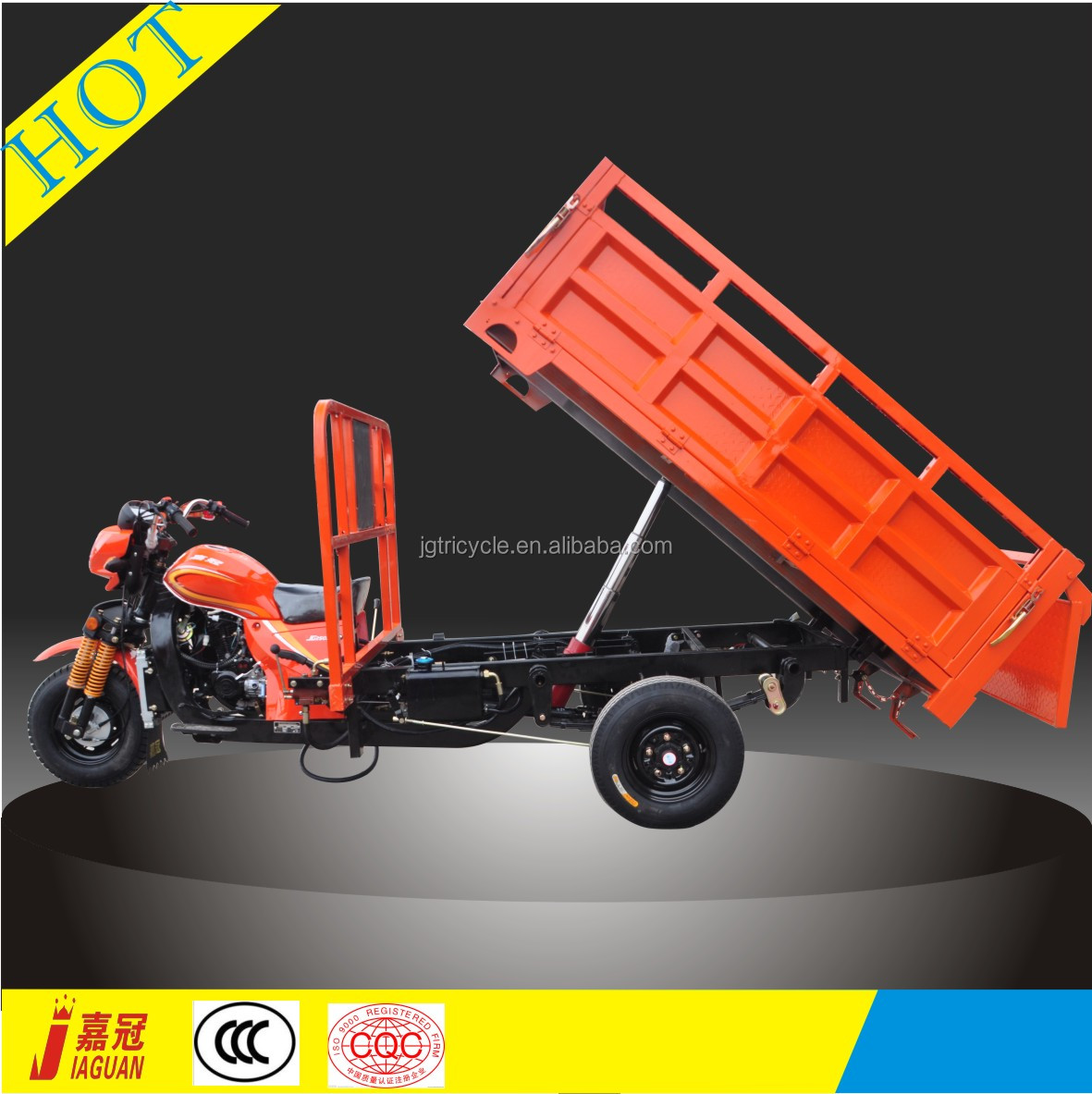 Popular hydraulic 200cc tipper three wheel motorcycle for adult
