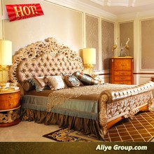 AMF9113-new classical latest wooden teak wood double bed designs