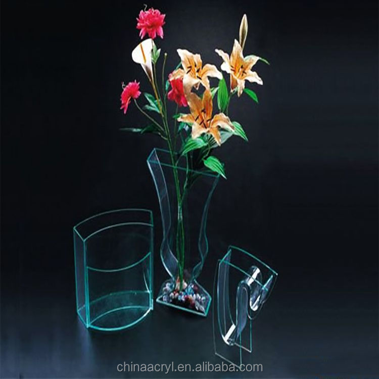 Home and Office Desk Decor Flower Vase Acrylic Flower Stand