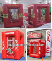 High quality Cash cube inflatable money machine carnival game ( K-2# )