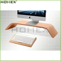 Bamboo Monitor Stand for Computer and LCD/Shelf Platform Riser Stand/Homex_FSC/BSCI Factory
