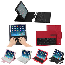 detachable bluetooth keyboard leather case for iPad Air 2
