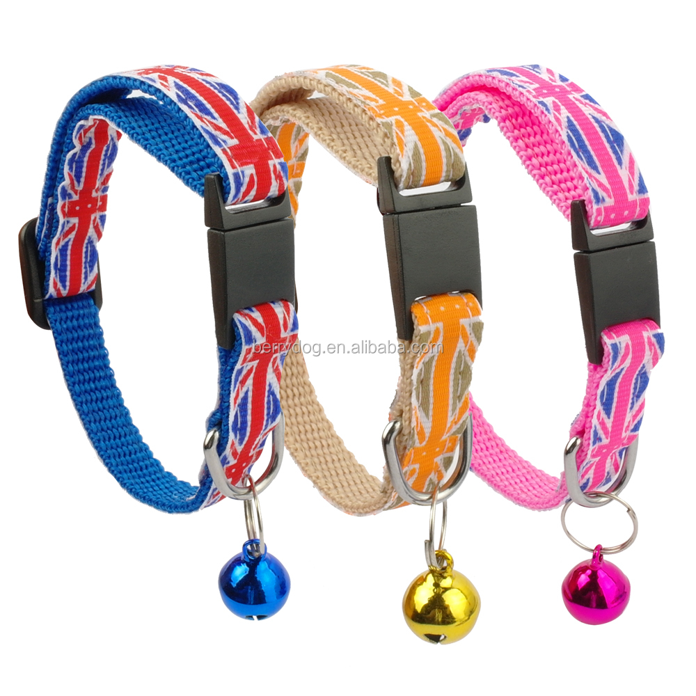 Berry Cheap Various Designs Nylon Safety Breakaway Cat Collars