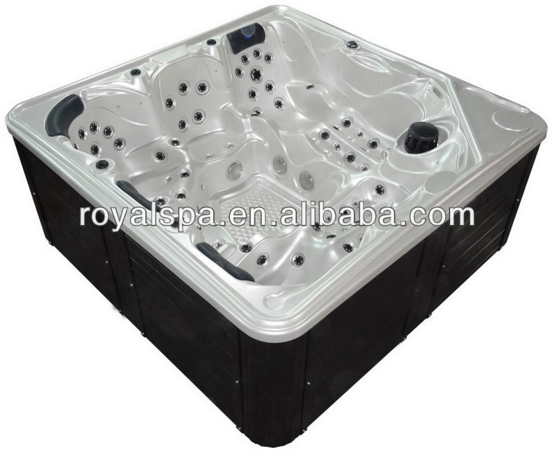 Multi Jets 5 Persons Acrylic Whirlpool Spa Hydro Massage Pool