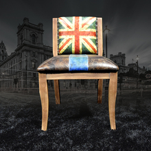 Armchair Union jack genuine leather dining chair