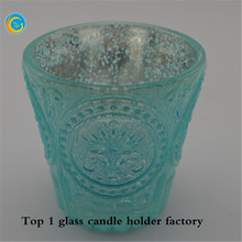 Fancy mercury glass votives wholesale for candle holders with mercury glass jars