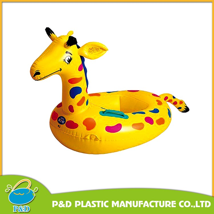Hot Sale Inflatable Baby Water Toys Swim Pool Kids Floating Yellow Duck Rider Seat