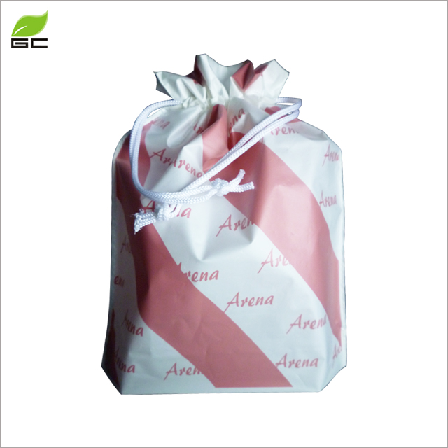 Large Double-Deck Promotional Frosted CPE Cute Drawstring Bag