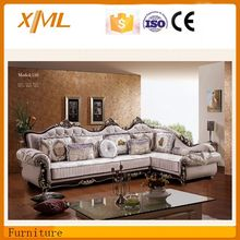 european style claasical l shape fabric sofa