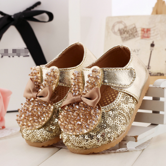 Tsw3174 Best Ing 2017 Baby Dress Shoes Fashion Rhinestone Sequins Fancy Rabbit S Leather