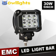 guangzhou motorcycle accessories 12 volt 30w LED 4x4 Spotlight 30w 5 Inch Truck LED Lights for atv 4x4