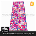 Washable non slip organic sublimation printed eco pvc yoga mat custom label