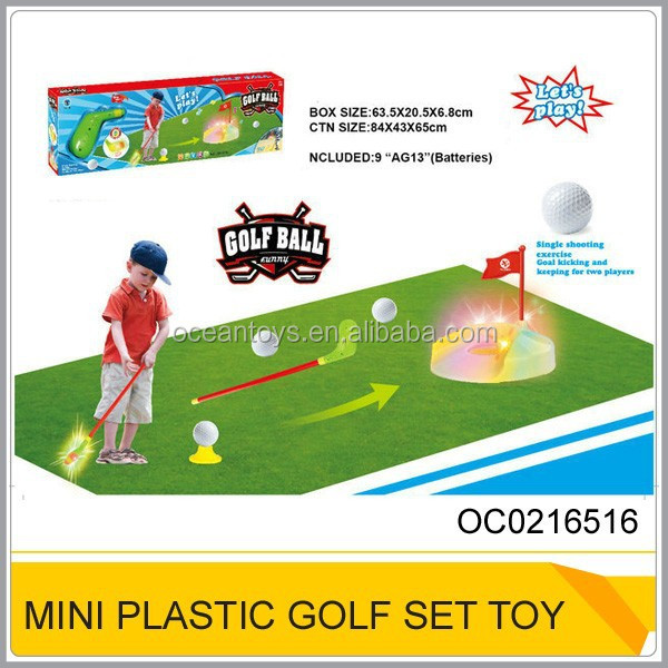 Plastic golf ball toys Kids golf set plastic golf club toy with light and sound OC0216516