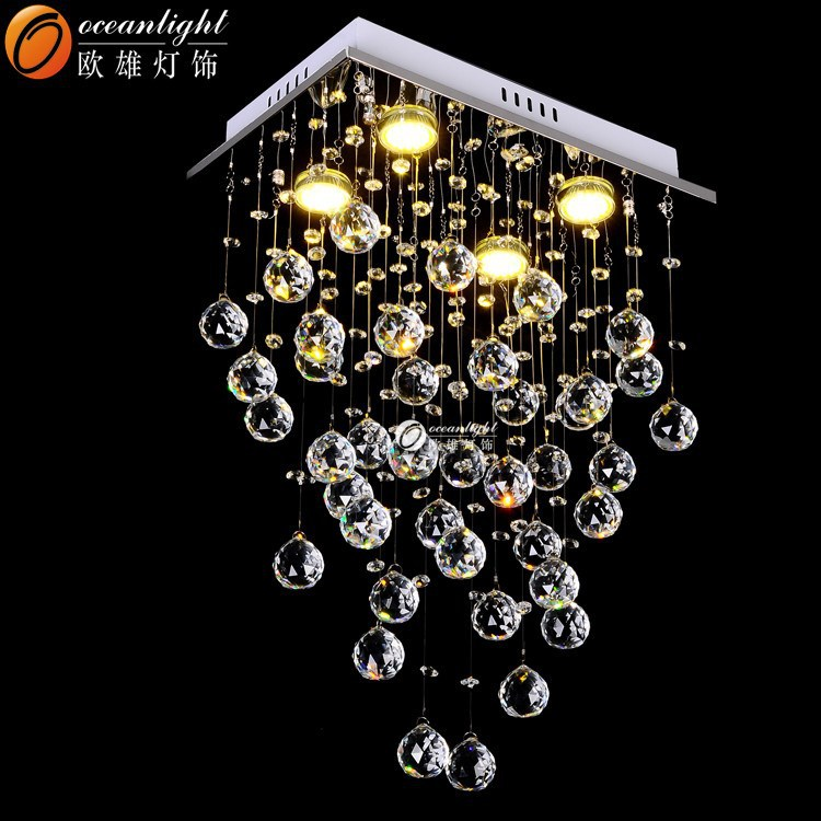 decoration hanging lamp crystal chandeliers,led crystal chandelier made in china OM9189-L4