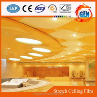 artistic modern ceiling decors designs heat reflective plastic film
