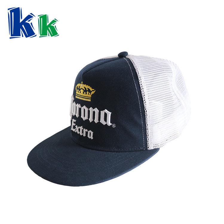 3D embroidery 5 panel cotton customized logo promotional baseball cap