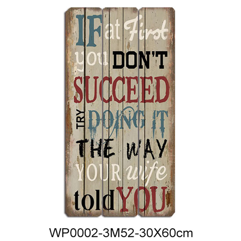 Wholesale rectangle wooden plaque with sayings