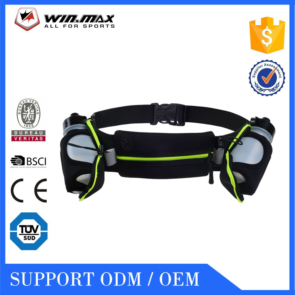 2016 WINMAX Hot Sales hydration running belt waist pack with 2 Free Water Bottles