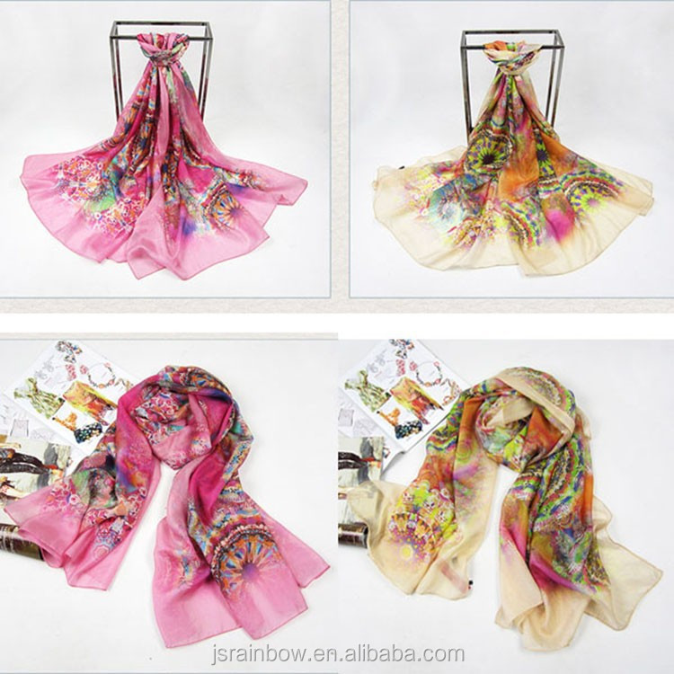 2015 New customize digital silk scarf printing for dyeing
