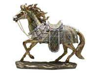 new home decoration home display horse jump resin figurine