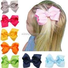 3 Inch Large Kids Baby Girl Grosgrain Ribbon Bow Clips DIY Headdress Children Hair Accessories Large Grosgrain Ribbon Bows