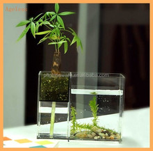 Modern Design Clear Acrylic plastic square Aquarium Fish Tank For Home Hotel Decorative