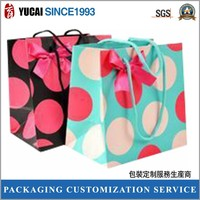 Printed paper bag for shopping