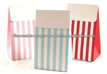Party Styling Accessories Party Bags and Boxes Red, blue and Pink Stripes Party Treat Boxes Paper 12pk