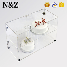 NZ M52 Sandwiches Bakery Food Display Clear Acrylic Cake Display Cabinet