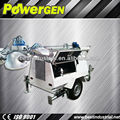 POWER-GEN 7kw 4x1000w Lights,9m Mast Portable Diesel Engine Kubota D1105-BG Light Tower