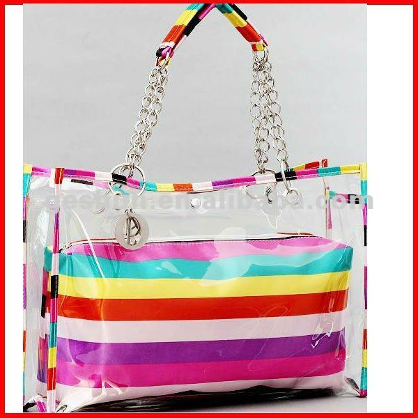 Most popular clear beach bag with inner pocket