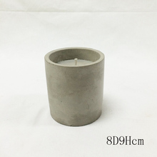 soy wax holder cement holder with candle