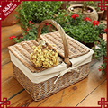S&D Eco-friendly Wicker Basket, Woven Storage OR picnic Basket with Handle
