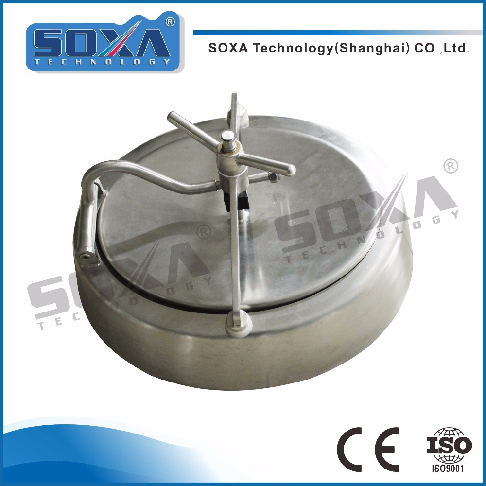 ss304/ ss316L stainless steel hygienic oval manhole/ manway cover with factory price
