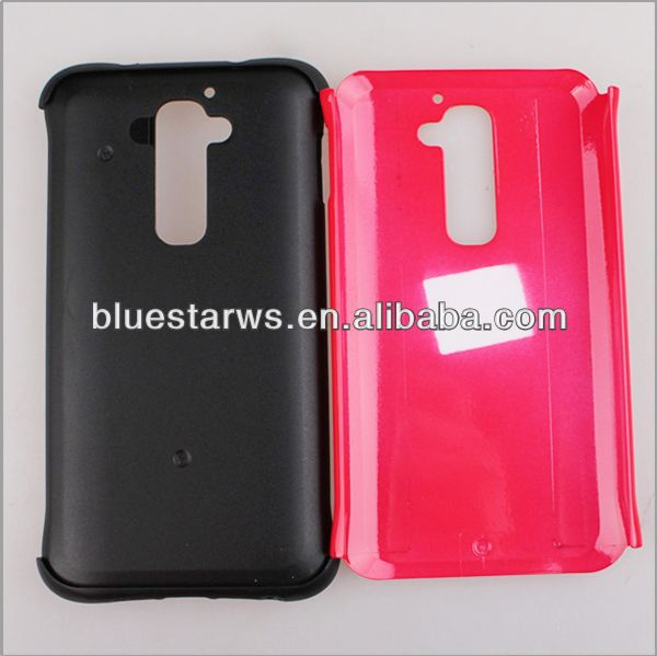 Case for lg g2 Two Tone Colors Transparent TPU+PC Bumper Case For LG G2