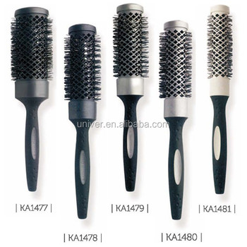 Hot Sell Plastic Handle Hair Brush with Rubber Paint KA1477-KA1481