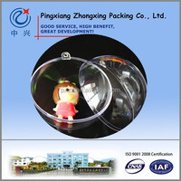 China Factory sale Plastic Clear Ball, Plastic Transparent Ball with opened