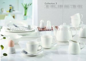 Chaozhou hotel & restaurant latest porcelain dinner set with popular design