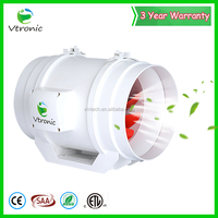 "China Supplier Plastic 8"" 3-Speed Wall Mounted Industrial Blower Ventilation Fan"