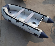 CE approved Inflatable Boat 380 with electric motor with aluminium floor