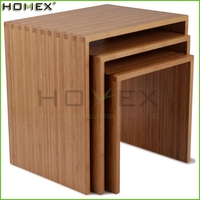 Troika Nesting Table/Bamboo Side Coffee Table/Homex_FSC/BSCI Factory