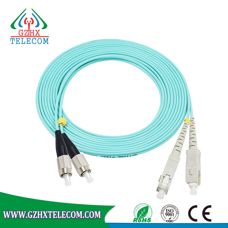 SC / FC / ST / LC OM3 Indoor 3m Fiber Optic patch cord cable