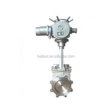 DN250 rising stem lug type electric knife gate valve