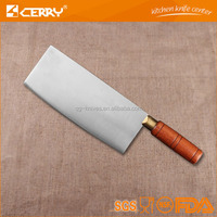 wood handle Chinese kitchen knife round handle stainless stell