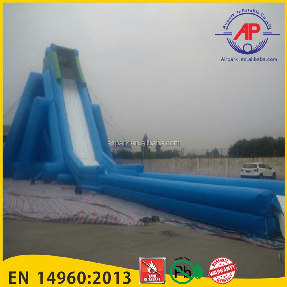 Guangzhou Airpark Promotion cartoon worm inflatable slide palm tree water slide with pool