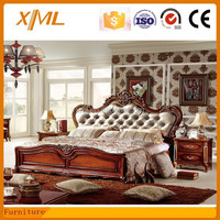luxury classic bed /hand-made carved solid wood bed