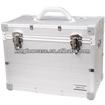 portable travel vertical silver aluminum boxes KL-TC011