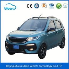 Classical Electric Car With Cargo Van Box Solar Panel