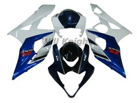 For SUZUKI GSX R1000 05 06 K5 Blue White GSX-R1000 2005 2006 GSXR-1000 05-06 GSXR1000 2005 2006 Fairing Kit