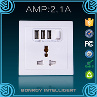 2015 new design universal popular 3-gang socket outlet available in all decoration styles